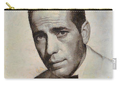Humphrey Bogart Vintage Hollywood Actor Carry-all Pouch by John Springfield