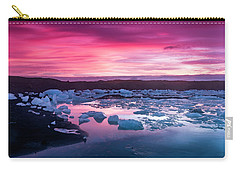Iceberg In Jokulsarlon Glacial Lagoon Carry-all Pouch by Joe Belanger