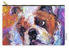 Impressionistic Bulldog Painting  Carry-all Pouch by Svetlana Novikova