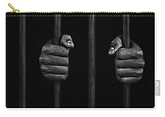 Carry-all Pouch featuring the photograph In Prison by Chevy Fleet
