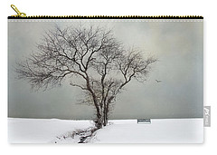 Carry-all Pouch featuring the photograph  The Midst Of Winter by Robin-lee Vieira