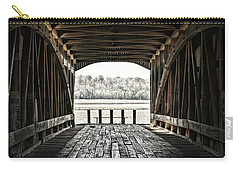 Inside The Covered Bridge Carry-all Pouch by Joanne Coyle