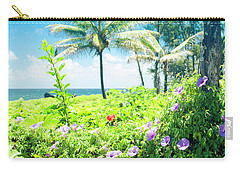 Carry-all Pouch featuring the photograph Ipomoea Keanae Morning Glory Maui Hawaii by Sharon Mau