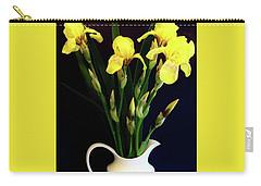 Iris Bouquet Carry-all Pouch by Marsha Heiken