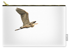 Carry-all Pouch featuring the photograph Isolated Great Blue Heron 2015-5 by Thomas Young