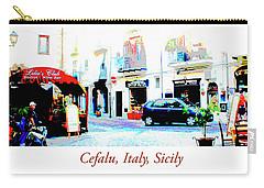 Italian City Street Scene Digital Art Carry-all Pouch