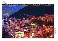 Italy, Manarola At Night Carry-all Pouch