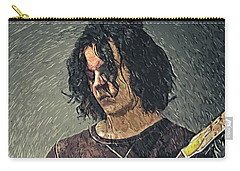 Jack White Carry-all Pouch by Taylan Apukovska