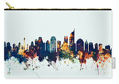 Jakarta Skyline Indonesia Bombay Carry-all Pouch by Michael Tompsett