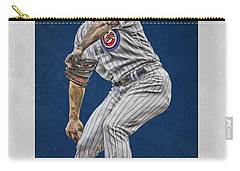 Jake Arrieta Chicago Cubs Art Carry-all Pouch by Joe Hamilton