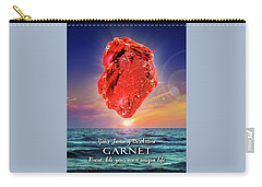 January Birthstone Garnet Carry-all Pouch