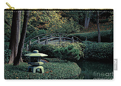 Carry-all Pouch featuring the photograph Japanese Garden In Summer by Iris Greenwell