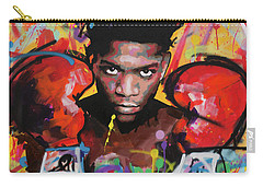 Carry-all Pouch featuring the painting Jean Michel Basquiat by Richard Day