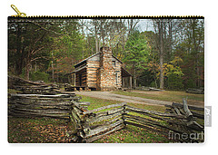 John Oliver Cabin Cades Cove Carry-all Pouch by Lena Auxier