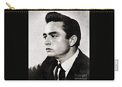 Johnny Cash, Singer Carry-all Pouch by John Springfield