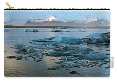 Carry-all Pouch featuring the photograph Jokulsarlon, The Glacier Lagoon, Iceland 5 by Dubi Roman