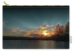 June Sunset On Nicks Lake Carry-all Pouch by David Patterson