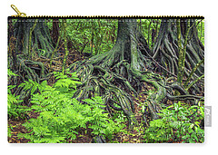 Carry-all Pouch featuring the photograph Jungle Roots by Les Cunliffe