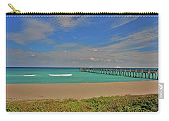 Carry-all Pouch featuring the photograph 1- Juno Beach Pier by Joseph Keane