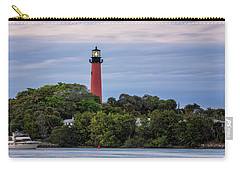 Jupiter Inlet Lighthouse Carry-all Pouch by Fran Gallogly