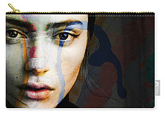 Carry-all Pouch featuring the mixed media Just Like A Woman by Paul Lovering