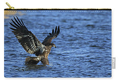 Juvenile Eagle Fishing Carry-all Pouch by Coby Cooper