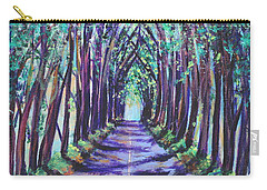 Carry-all Pouch featuring the painting Kauai Tree Tunnel by Marionette Taboniar