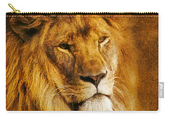 Carry-all Pouch featuring the digital art King Of The Beasts by Ian Mitchell