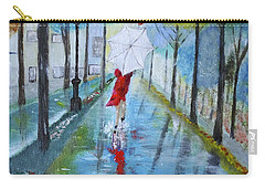 Lady In Red Original Version Carry-all Pouch by Dick Bourgault