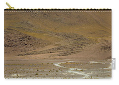 Carry-all Pouch featuring the photograph Laguna Colorada, Andes, Bolivia by Gabor Pozsgai