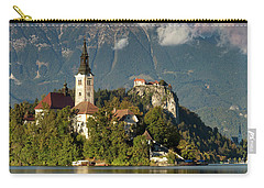 Carry-all Pouch featuring the photograph Lake Bled by Brian Jannsen