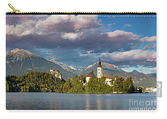 Carry-all Pouch featuring the photograph Lake Bled Evening by Brian Jannsen
