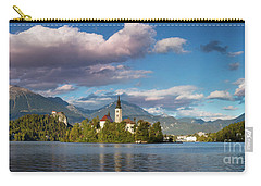 Carry-all Pouch featuring the photograph Lake Bled Panoramic by Brian Jannsen