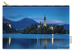 Carry-all Pouch featuring the photograph Lake Bled Twilight by Brian Jannsen