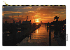 Carry-all Pouch featuring the photograph 1- Lake Park Marina by Joseph Keane