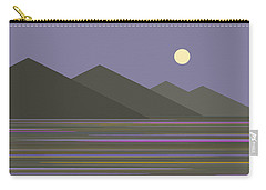 Lavender Sky  Reflections Carry-all Pouch by Val Arie