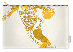 Lebron James Cleveland Cavaliers Pixel Art 10 Carry-all Pouch