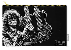 Led Zeppelin Jimmy Page Carry-all Pouch by Marvin Blaine
