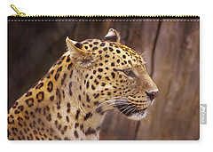 Carry-all Pouch featuring the photograph Leopard by Donald Paczynski