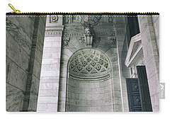 Carry-all Pouch featuring the photograph Library Portico by Jessica Jenney