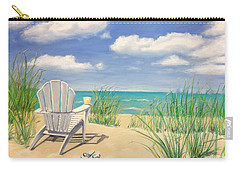Life Is A Beach Carry-all Pouch by Diane Diederich