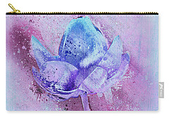 Carry-all Pouch featuring the digital art Lily My Lovely - S114sqc75v2 by Variance Collections
