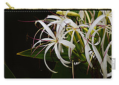 Lily Of The Nile Macro Carry-all Pouch by Warren Thompson