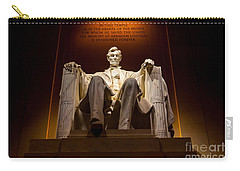 Lincoln Memorial At Night - Washington D.c. Carry-all Pouch by Gary Whitton