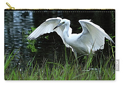 Little Blue Heron Hunting - Digitalart Carry-all Pouch