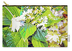 Carry-all Pouch featuring the photograph Little Orchids by Mindy Newman