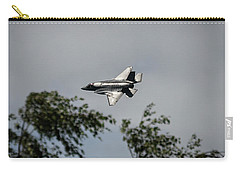 Carry-all Pouch featuring the photograph Lockheed Martin F-35 Lightning II by Shirley Mitchell