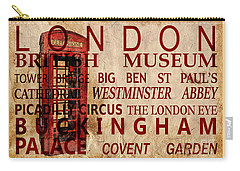 London Vintage Poster Red Carry-all Pouch