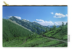 Lone Llama Packer In The Beautiful Bob Marshall Wilderness Carry-all Pouch by Jerry Voss