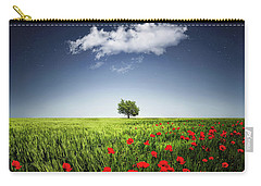 Lone Tree A Poppies Field Carry-all Pouch by Bess Hamiti